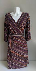 Brown multi color dress.